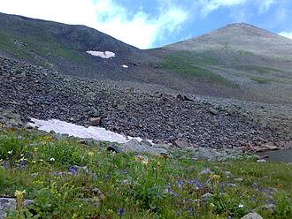 Javakheti Range - View of mountain Achkasar in Northern Armenia.