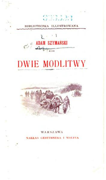 File:Adam Szymański - Dwie modlitwy.djvu
