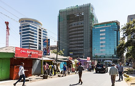 Modern high-rises in Kirkos. Addis Ababa City view.jpg