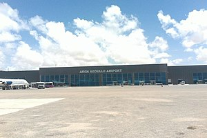 Transport in Somalia - The Aden Adde International Airport.