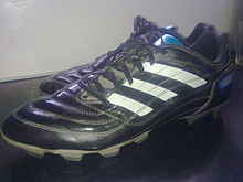 20b6d0c4e A pair of Adidas Predator X model football boots.