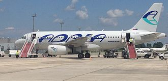 Tirana International Airport Nënë Tereza - Adria Airways Airbus A319 in Tirana