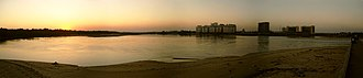 Adyar River - Sunset over the river