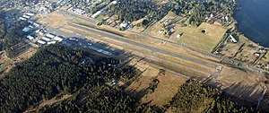 Friday Harbor Airport - Image: Aerial Friday Harbor Airport August 2009