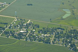 Aerial view of Lancaster, Kansas