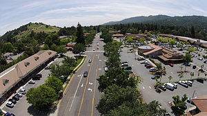 Alamo, California - Aerial view of downtown Alamo CA