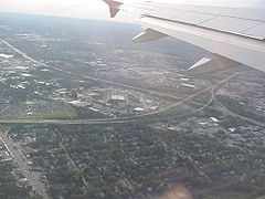 Aerial view of the junction of Interstate 95 and Rhode Island Route 37.jpg