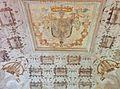 Affresco di una delle sale del Castello di Bardi con stemma della Famiglia Landi.jpg