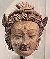 Afghanistan, testa femminile, dal sito di hadda, monastero di tapa-i-kafariha, III-IV sec.JPG