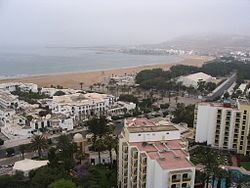 The beach seen from the Anezi Hotel
