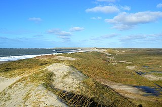 Agger Tange peninsula in Thisted Municipality, North Denmark Region