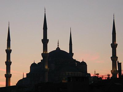 Sultan Ahmet Mosque at dusk