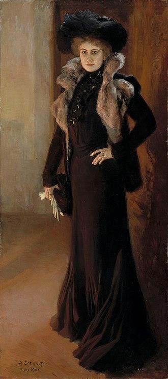 Aino Ackté - Albert Edelfelt's portrait of Ackté from 1901.