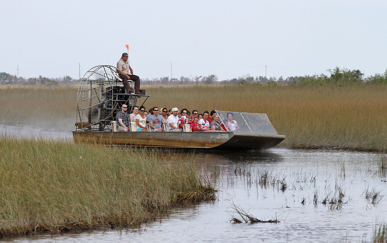 Airboat Tour Everglade Near Keys Island