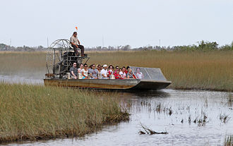Airboat - Airboating has become a popular ecotourism attraction in the Florida Everglades in the U.S.
