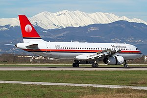 Meridiana - Airbus A320-200 previously operated by the airline