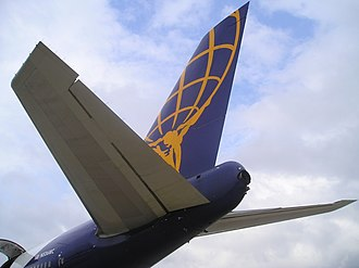 Empennage - The empennage of a Boeing 747-200