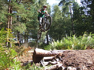 Freeride - Dirt Jumping at a professional Freeride contest in Seattle, Washington.