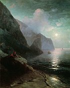Aivazovsky - Pushkin in Crimea near Gurzuf rocks.jpg