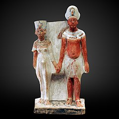 Akhenathon and Nefertiti-E15593