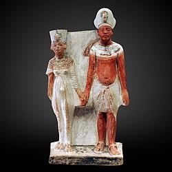 anonymous: Akhenathon and Nefertiti-E15593