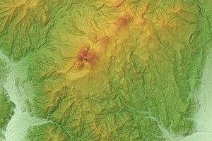 Mount Akita-Komagatake - Relief Map
