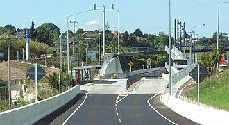 Northern Busway, Auckland - Sunnynook, the smallest of the six stations.