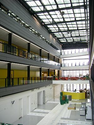 Alan Turing Building - The Atrium, during the move of the School of Mathematics
