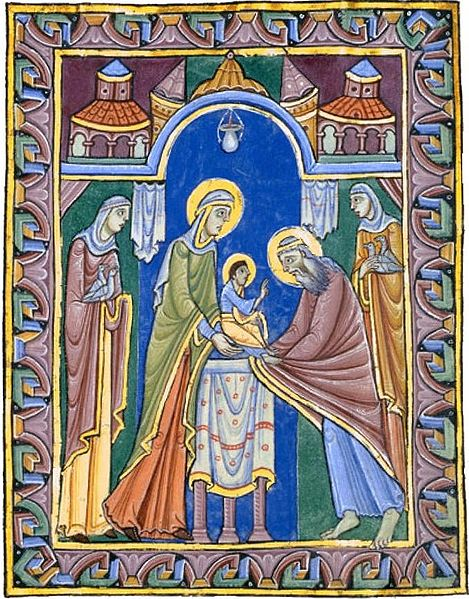 Albani-Psalter, Darbringung Jesu im Tempel