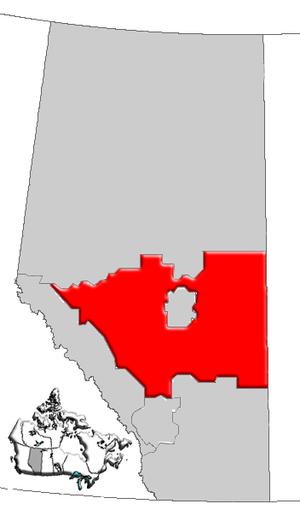 Central Alberta - Image: Alberta central map