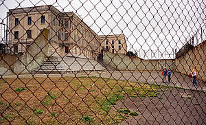 Recreation Yard (Alcatraz) - Looking through the fence into the yard