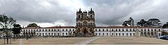 Alcobaça, Portugal - Façade of the Alcobaça Monastery.