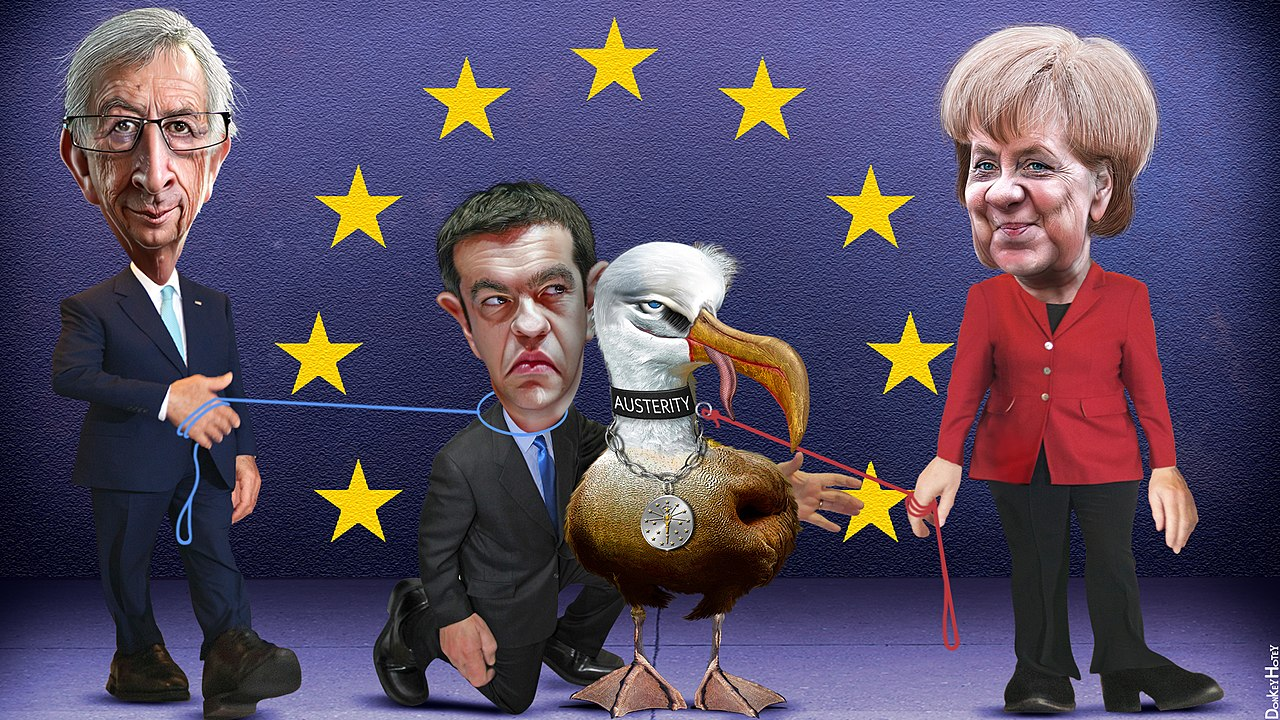 Alexis Tsipras on a short leash from the EU (19051574964).jpg
