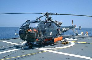 Aérospatiale Alouette III - French Navy Alouette III on the frigate La Motte-Picquet