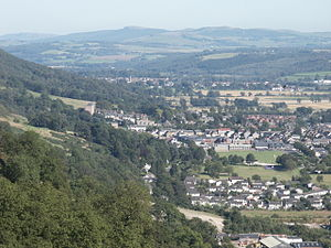 Alva, Clackmannanshire - A view of Alva from Myreton Hill, facing east.