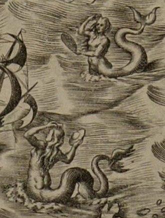 Americae Sive Quartae Orbis Partis Nova Et Exactissima Descriptio - Image: Americae Sive Quartae Orbis Partis Nova Et Exactissima Descriptio mermaids
