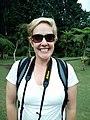 American woman at Kebun Raya Bali (front), Candikuning.jpg