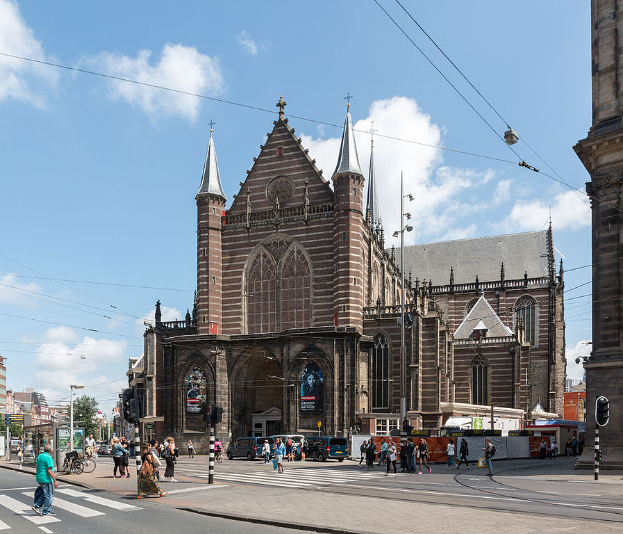 Façade de l'église Nieuwe Kerk d'Amsterdam © Dietmar Rabich.