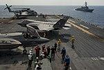 An F-35B Lightning II aircraft maneuver on the flight deck of USS Wasp.jpg