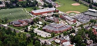 Nichols School - An aerial view of the Nichols School campus in Buffalo, N.Y., circa 2010.