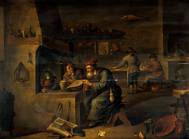 File:An alchemist in his laboratory. Oil painting by a follower o Wellcome V0017652.jpg