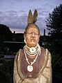 An artist's lifesized sculpture of a tribal being - geograph.org.uk - 548177.jpg