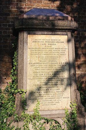 Andrew Scott Waugh - Andrew Scott Waugh grave, Brompton Cemetery