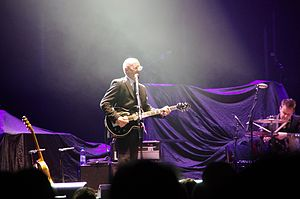 Andy Fairweather Low - Andy Fairweather Low on stage as support act to Eric Clapton and Steve Winwood at London's Royal Albert Hall; 27 May 2011