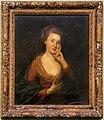 Angelica kauffman, ritratto di donna con vestito rosso e mantello azzurro.jpg