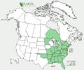 Angelica venenosa NA-dist-map.png