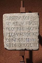 Épitaphe de Bernardus Tornerius