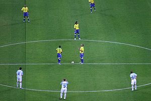 Kick-off (association football) - Kick-off at the final of the 2005 Confederations Cup