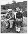 Anthony Mann and Janet Leigh relax between scenes of MGM's 'The Naked Spur', 1952.jpg