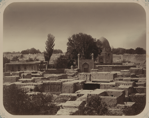 Antiquities of Samarkand. Mausoleum of Sheikh Burkhaneddin Kilich. Rukhabad. General View WDL3736